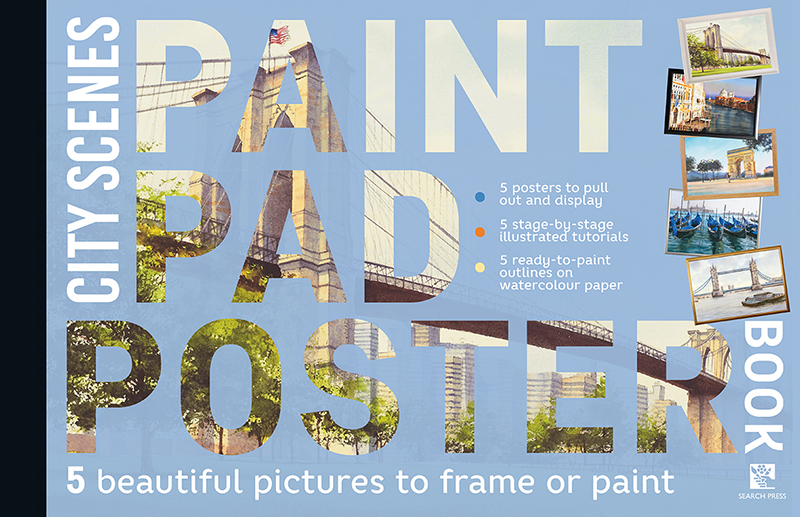Paint Pad Poster Book: City Scenes
