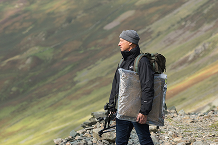 Robert on location at Honister Pass, Borrowdale in The Lake District